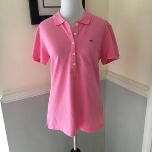 Lacoste pink polo shirt top eu 44 M L France